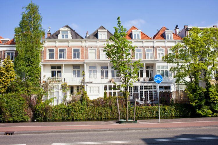 Netherlands Houses Street Shrubs Trees Hague Cities wallpaper