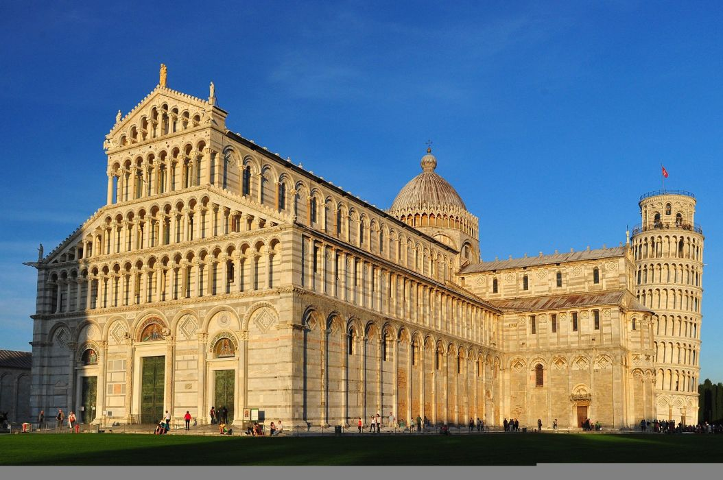 Houses Italy Temples Pisa Cities wallpaper