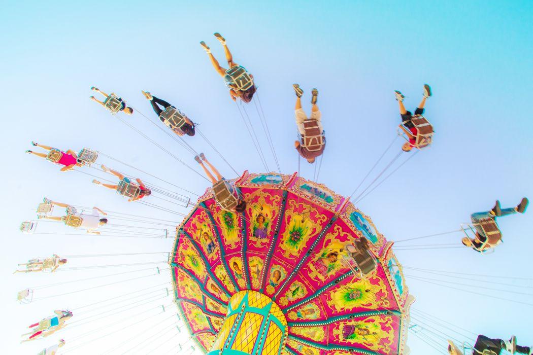 People Sky Carousel Cities wallpaper