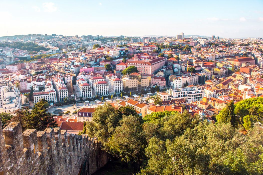 Portugal Houses Megapolis Lisbon Cities wallpaper