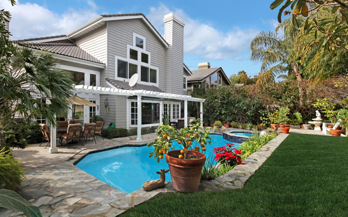 USA Villa Houses Pools Design Lawn Laguna Niguel Cities wallpaper