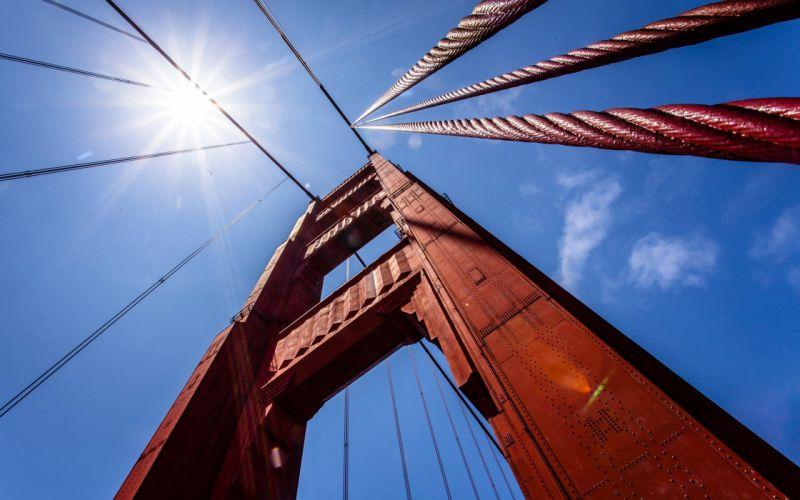 Bridges Closeup Sky Cities wallpaper