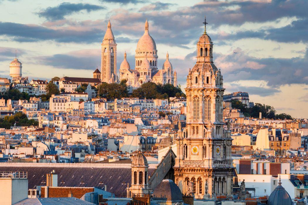 France Houses Temples Paris Clouds Montmartre Cities wallpaper