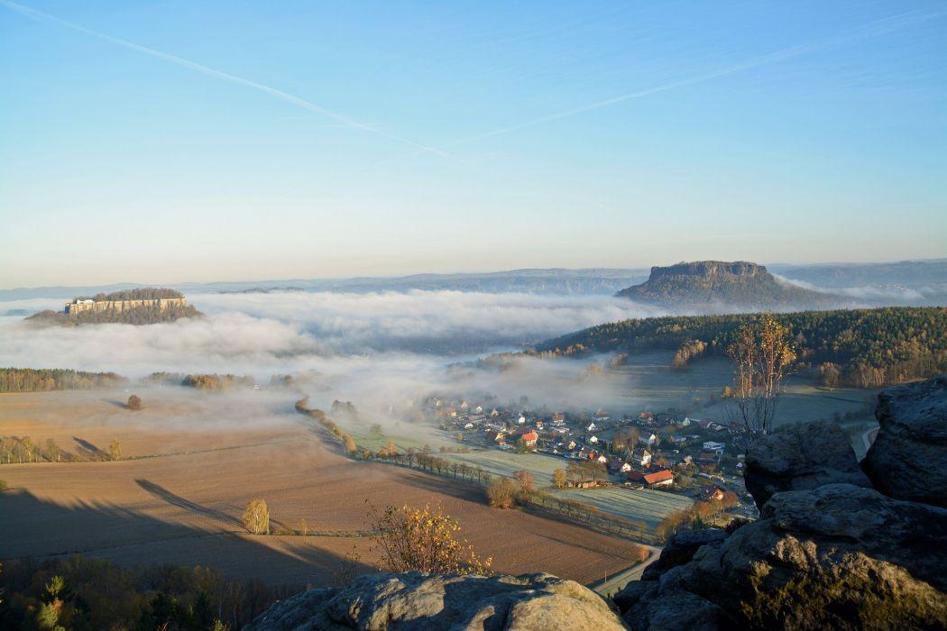 Germany Sky Fog Cities wallpaper