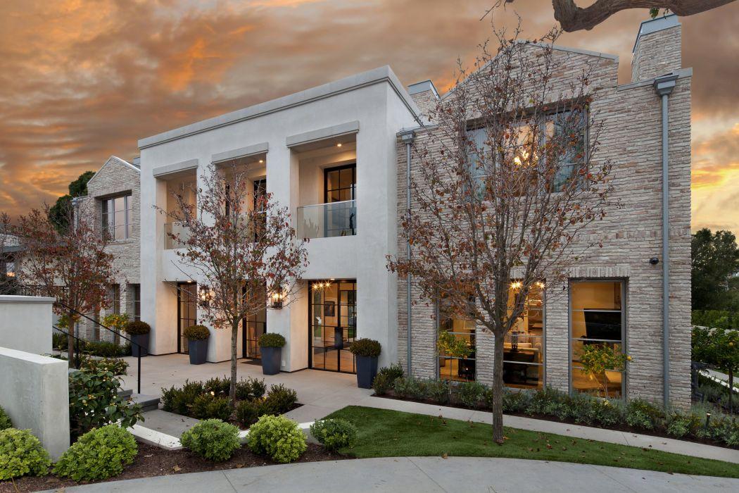 USA Houses Mansion Design Trees Shrubs Newport Beach Cities wallpaper