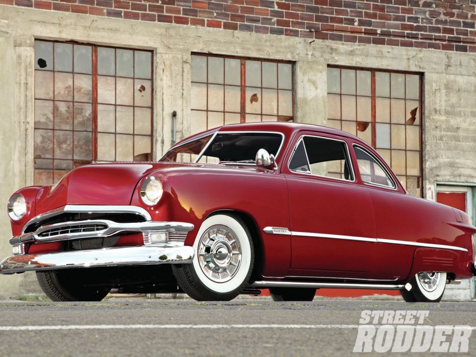 1950 Ford Club Coupe Hotrod Hot Rod Custom Kustom USA 1600x1200-01 wallpaper