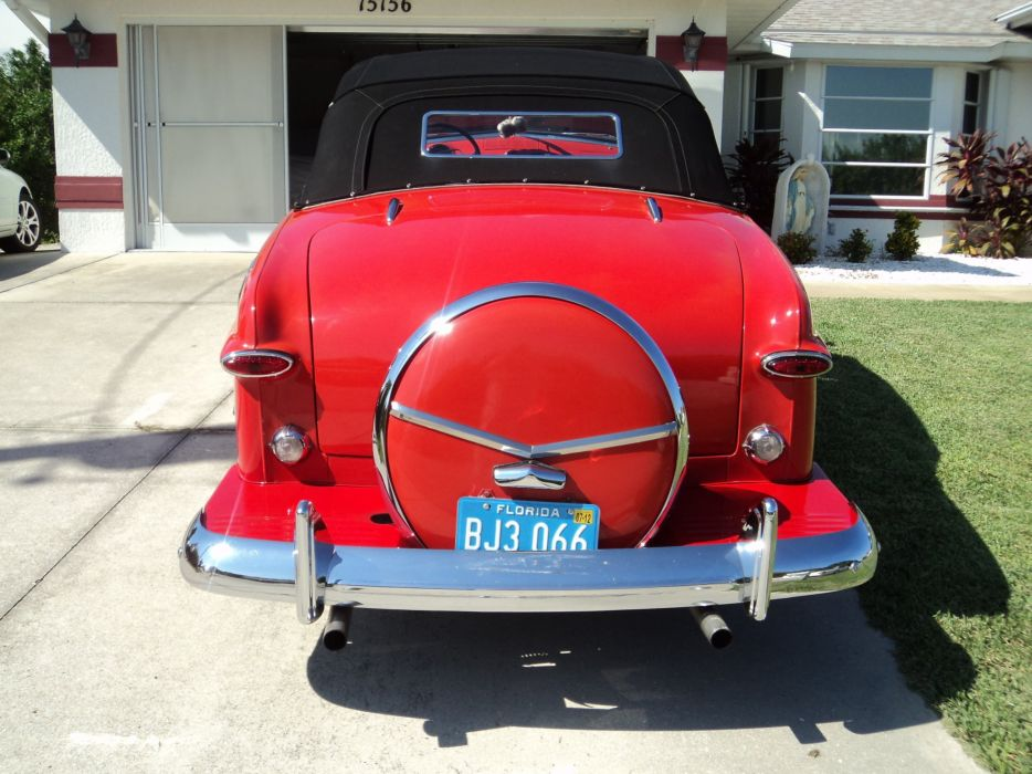 1950 Ford Custonline Deluxe Convertible Red Classic Old Vintage Original USA 2592x1944-08 wallpaper