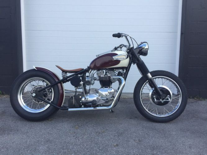 BOBBER motorbike custom bike motorcycle hot rod rods chopper triumph wallpaper