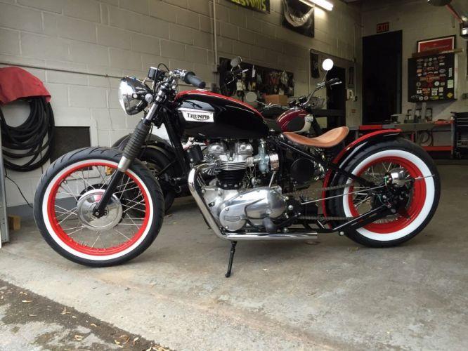 BOBBER motorbike custom bike motorcycle hot rod rods chopper triumph wallpaper