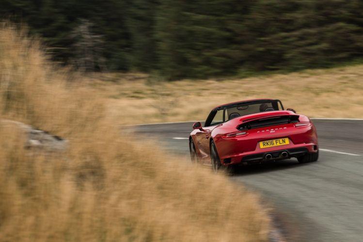 Porsche 911 Carrera 4S Cabriolet UK-spec (991) cars red 2016 wallpaper