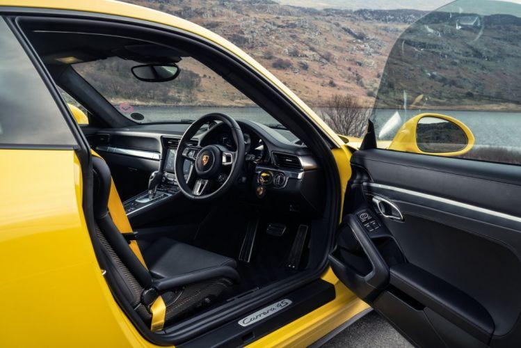 Porsche 911 Carrera 4S coupe UK-spec (991) cars yellow 2016 wallpaper