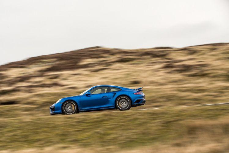 Porsche 911 Turbo S Coupe UK-spec (991) cars blue 2016 wallpaper