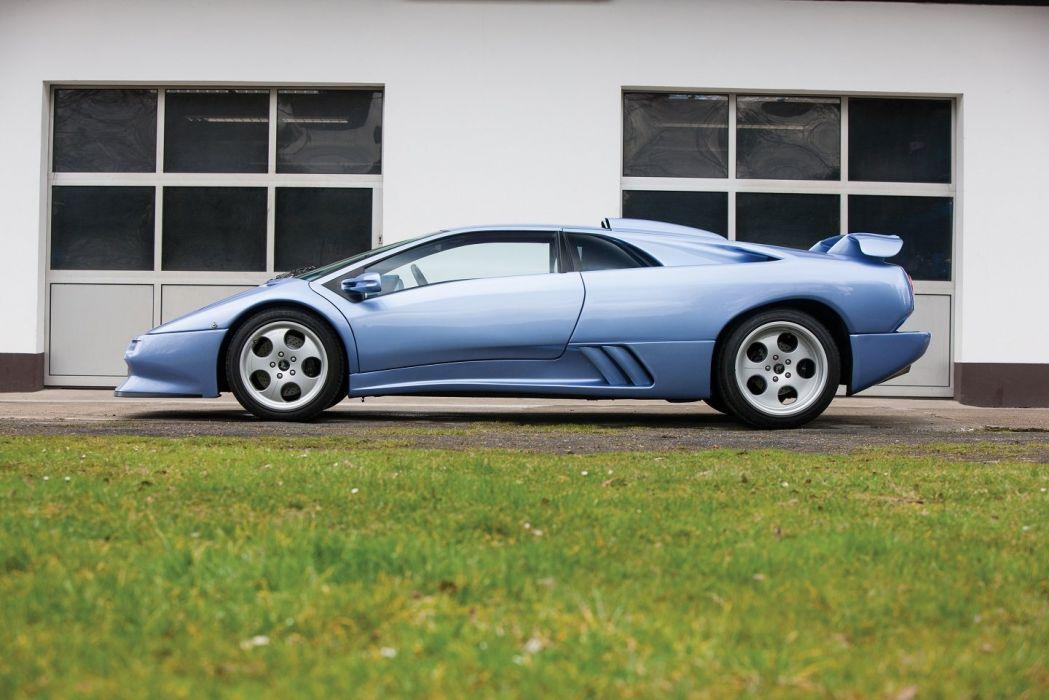 Lamborghini Diablo SE30 Jota cars blue 1995 wallpaper
