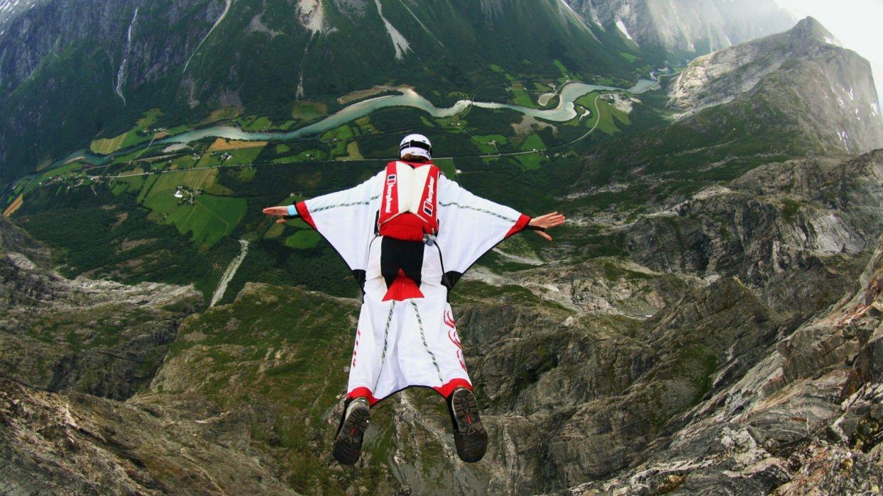 vuelo parapente alas deportes riesgos wallpaper
