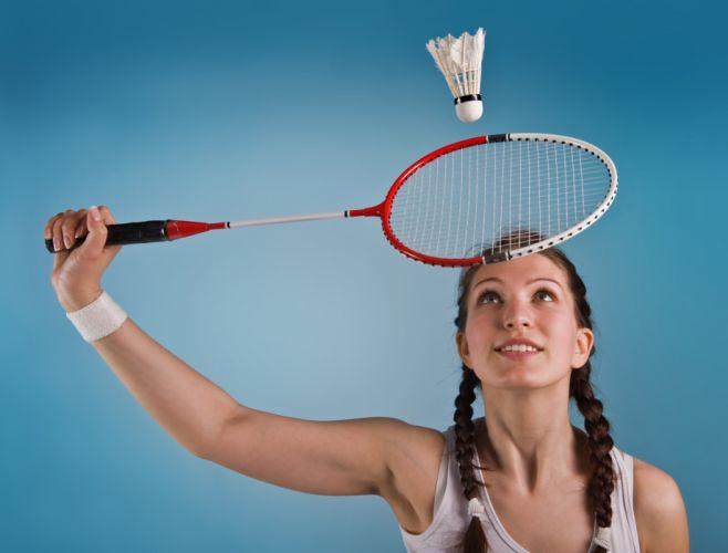 mujer raqueta badminton deporte wallpaper
