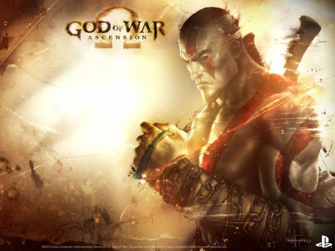 GOD OF WAR fighting warrior action fantasy action adventure poster wallpaper