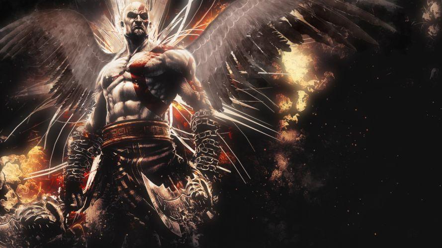 GOD OF WAR fighting warrior action fantasy action adventure wallpaper