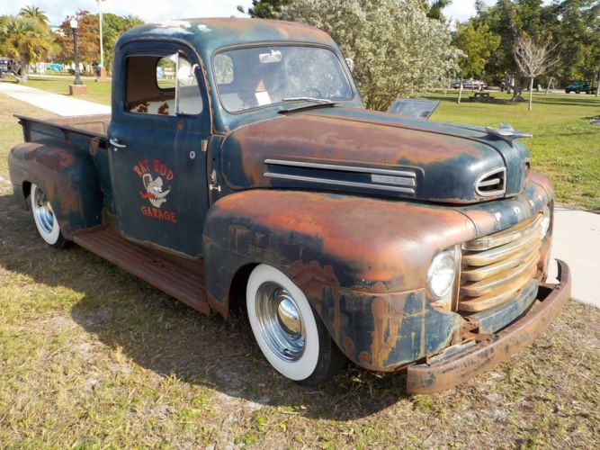 1950 Ford F-1 Rat Rod Pickup Hotrod Hot Custom USA 2272x1704-07 wallpaper