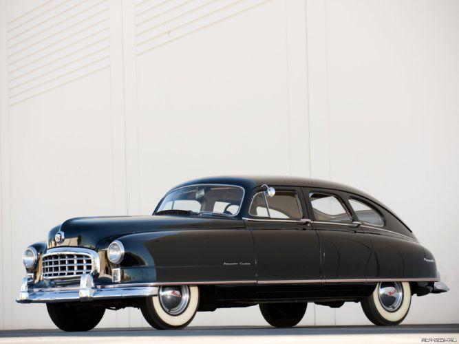 1950 Nash Ambassador Custom 4 Door Sedan Black Classic Old Vintage USA 2048x1536-01 wallpaper