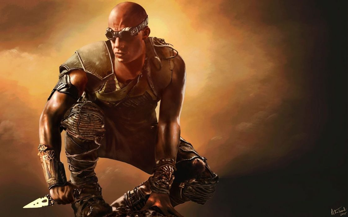RIDDICK action thriller sci-fi chronriddick Futuristic fantasy warrior fighting wallpaper