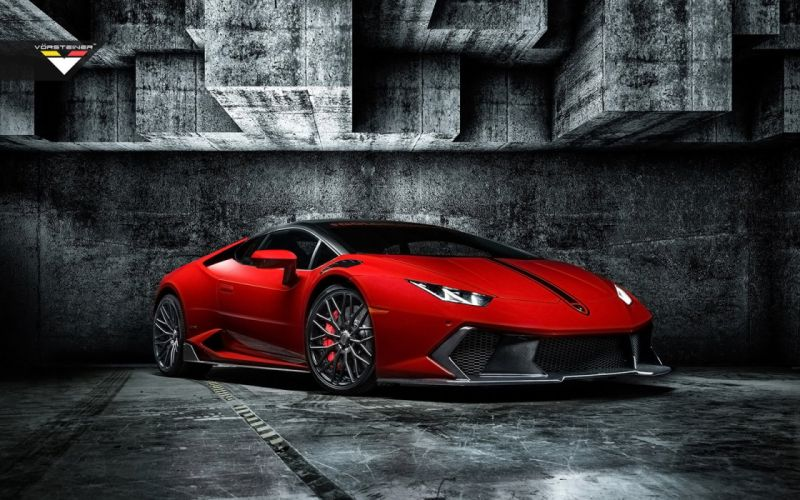 2016 Vorsteiner Lamborghini Huracan Novara Edizione coupe cars red modified wallpaper