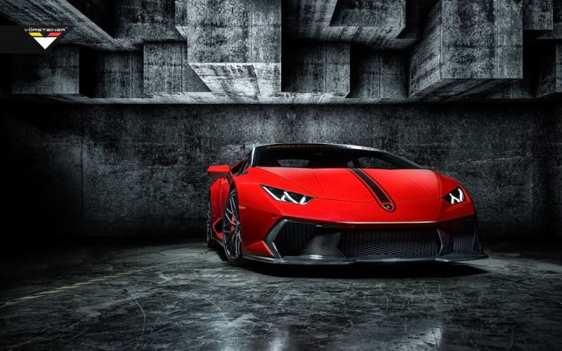 2016 Vorsteiner Lamborghini Huracan Novara Edizione coupe cars red modified wallpaper