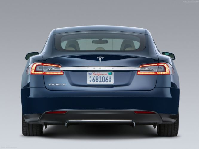 2013 Tesla Model-S P85 cars blue electric wallpaper