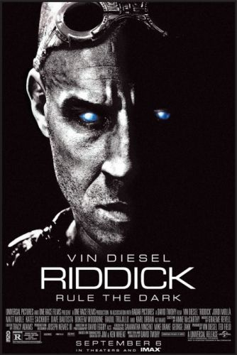 RIDDICK action thriller sci-fi chronriddick Futuristic fantasy warrior fighting poster wallpaper