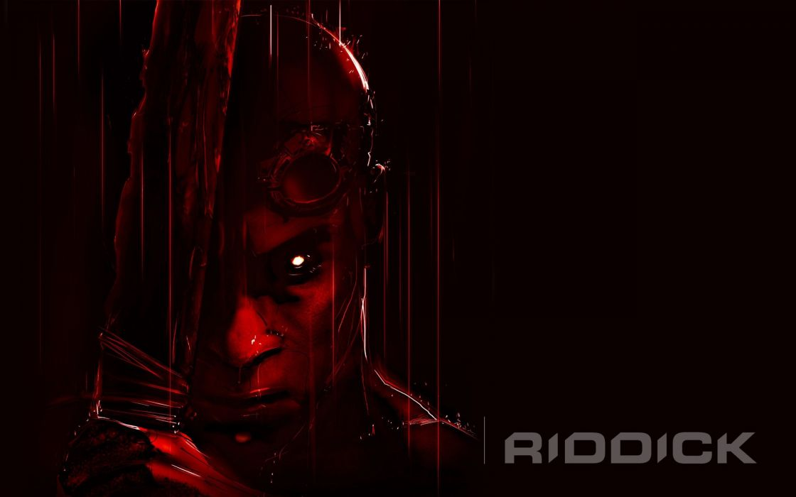 RIDDICK action thriller sci-fi chronriddick Futuristic fantasy warrior fighting poster wallpaper
