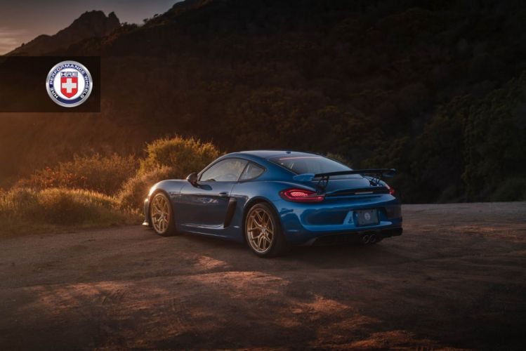 porsche Cayman GT4 blue HRE wheels cars wallpaper