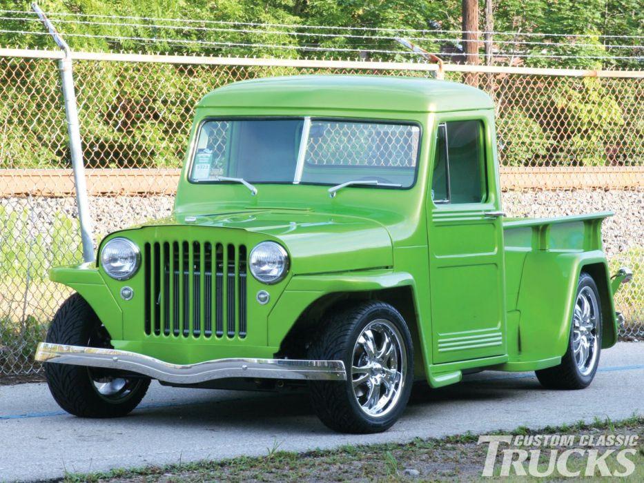 1950 Willys Jeep Pickup Hotrod Streetrod Hot Rod Street USA 1600x1200-03 wallpaper