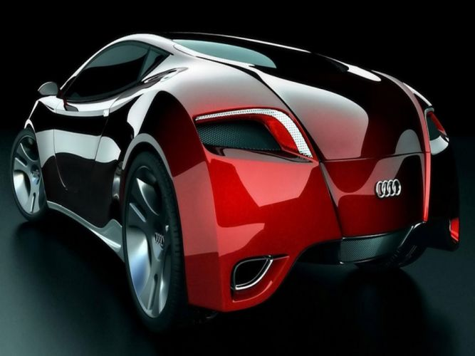 audi car red wallpaper