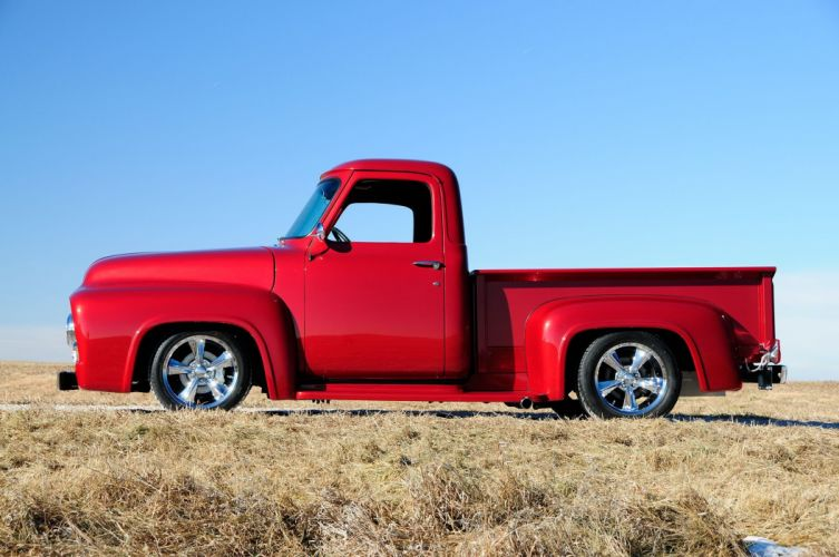 1953 Ford F-100 Pickup Street Rod Low Cruiser Hot USA -02 wallpaper