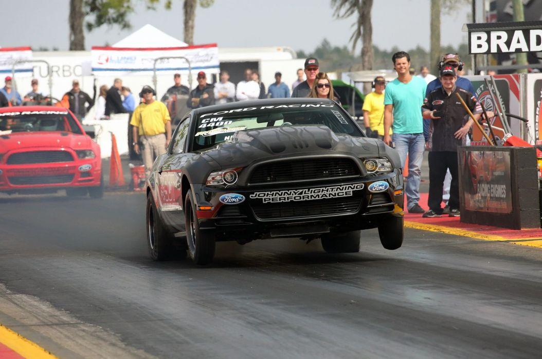 2013 Ford Mustang Cobra Jet Drag Dragster Johnny Lightning Wiker Pushes Race USA -03 wallpaper