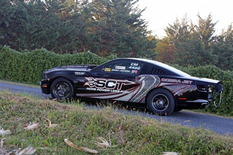 2013 Ford Mustang Cobra Jet Drag Dragster Johnny Lightning Wiker Pushes Race USA -06 wallpaper