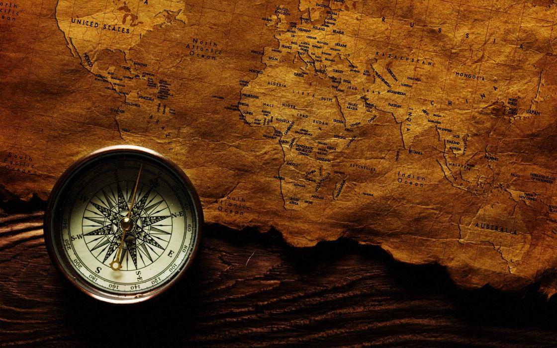 Brujula Mapa Mundi Wallpaper 1920x1200 923360 Wallpaperup