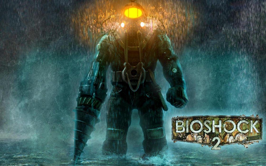 BIOSHOCK fantasy sci-fi shooter action fighting robot warrior futuristic poster wallpaper