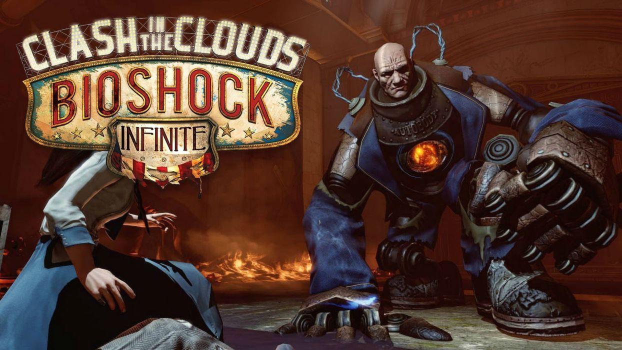 BIOSHOCK fantasy sci-fi shooter action cyborg fighting robot warrior futuristic poster wallpaper