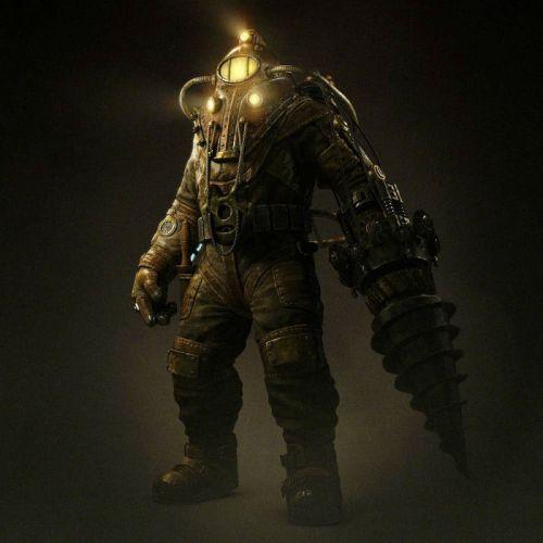 BIOSHOCK fantasy sci-fi shooter action cyborg fighting robot warrior futuristicr wallpaper
