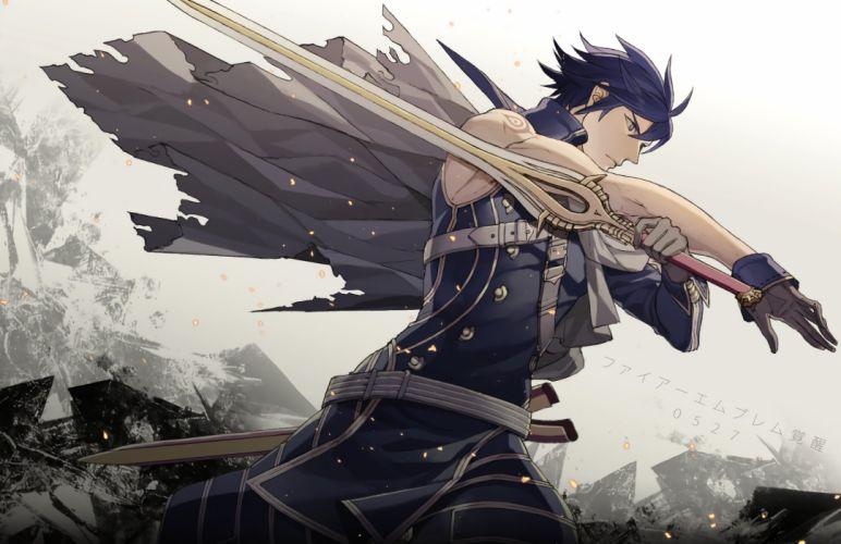 Fire Emblem Awakening game series sword character male wallpaper