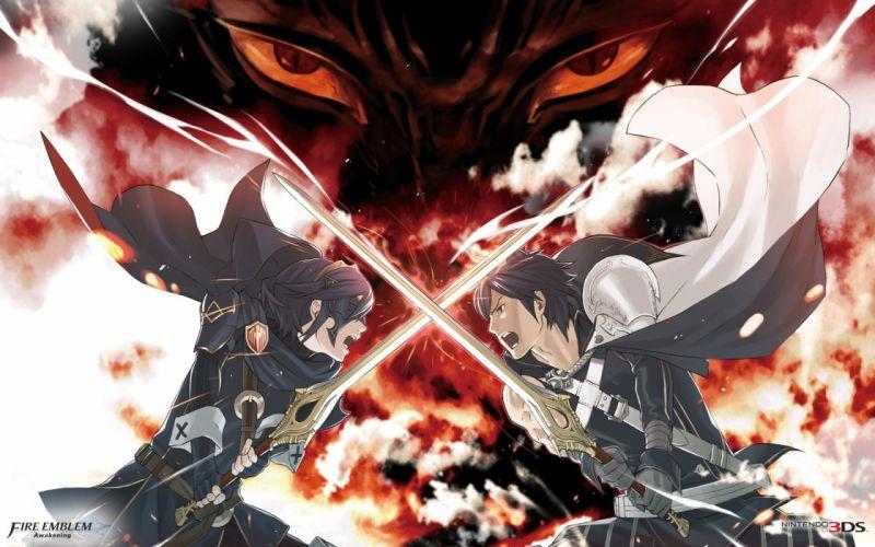 Fire Emblem Awakening game series character swords males wallpaper