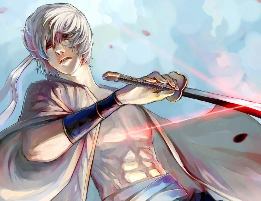 shimano katana gintama sakata gintoki shiroyasha anime series character male wallpaper