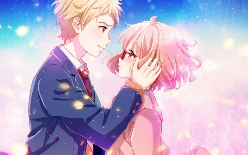 kyoukai no kanata kuriyama mirai kanbara akihito anime series couple girl male wallpaper