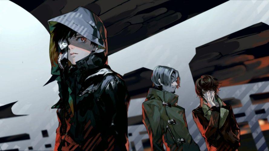 tokyo ghoul kaneki ken guys art anime series group wallpaper