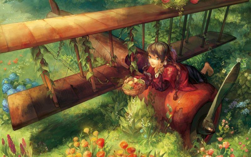 girl fruit lie anime wallpaper