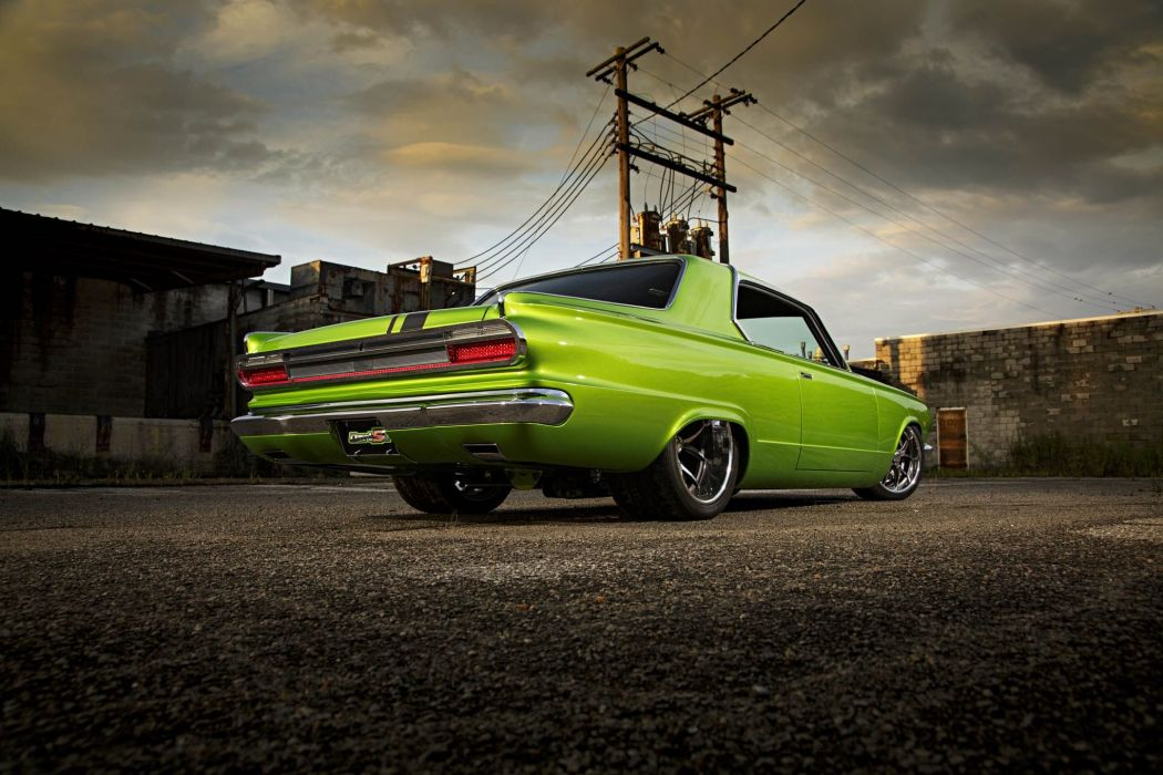 1965 Dodge Dart cars coupe green classic modified wallpaper