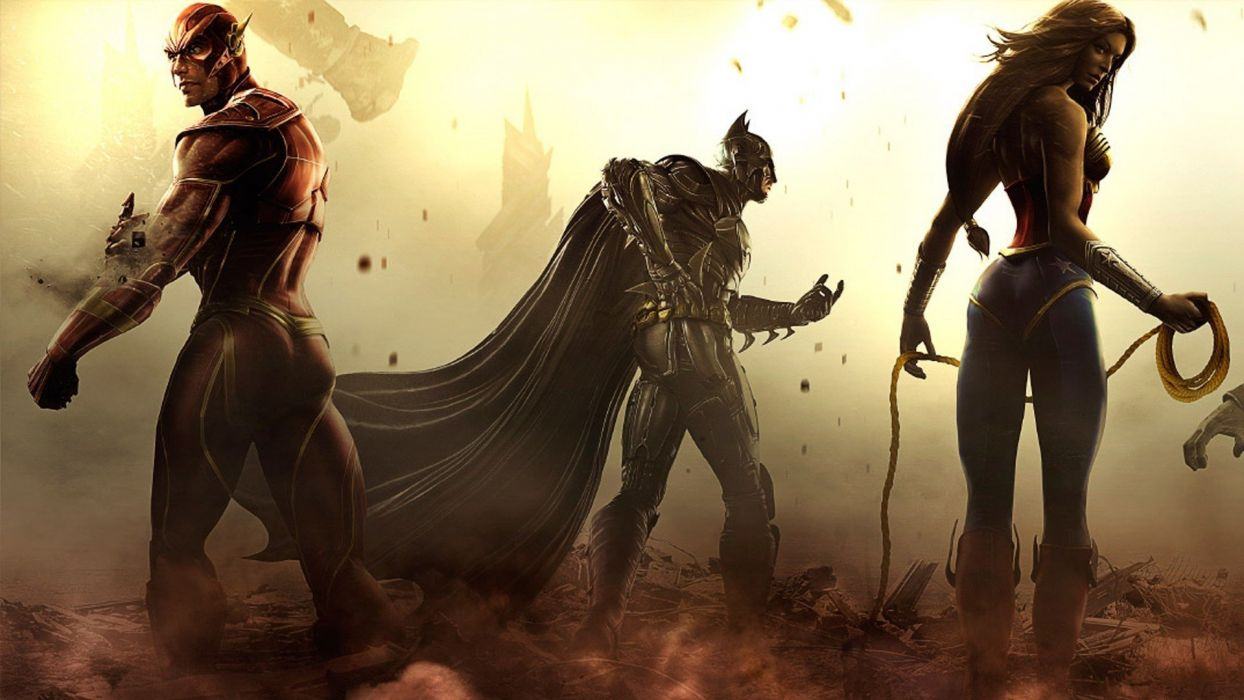INJUSTICE Gods Among Us action fighting hero superhero warrior wallpaper