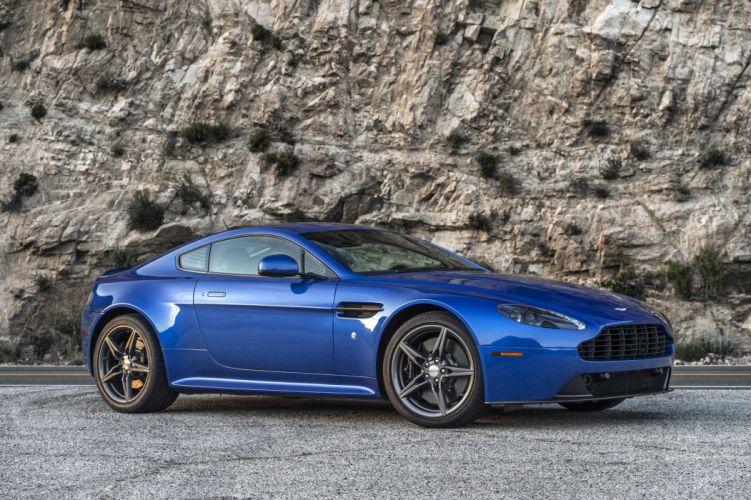 Aston Martin Vantage GTS cars blue 2016 wallpaper