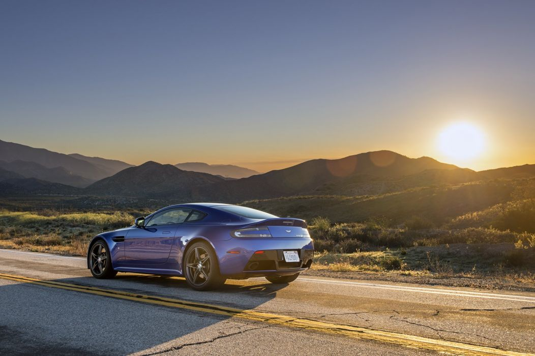 Aston Martin Vantage GTS cars blue 2016 wallpaper