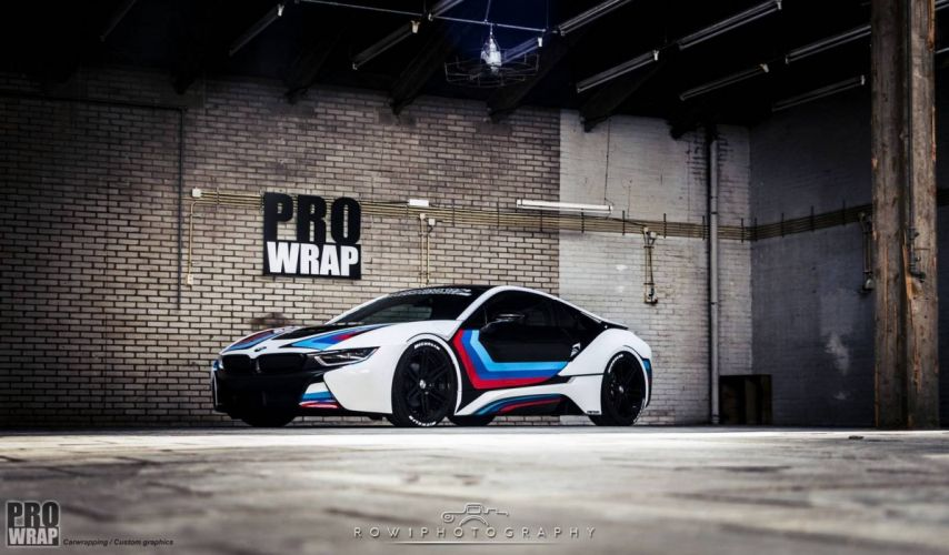 2016 Wrapped BMW i8 cars electric wallpaper